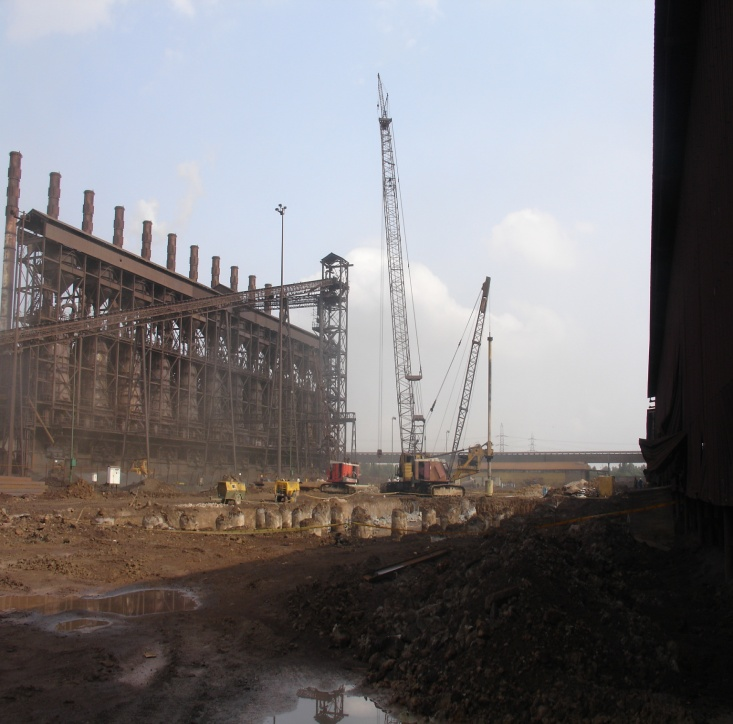 حفاری و شمع ریزی صنایع فولاد ( پروژه احیاء زمزم 2)